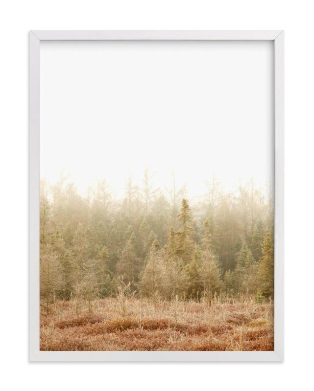 """Blushing Bog"" - Art Print by Jennifer Squires in beautiful frame options and a variety of sizes."