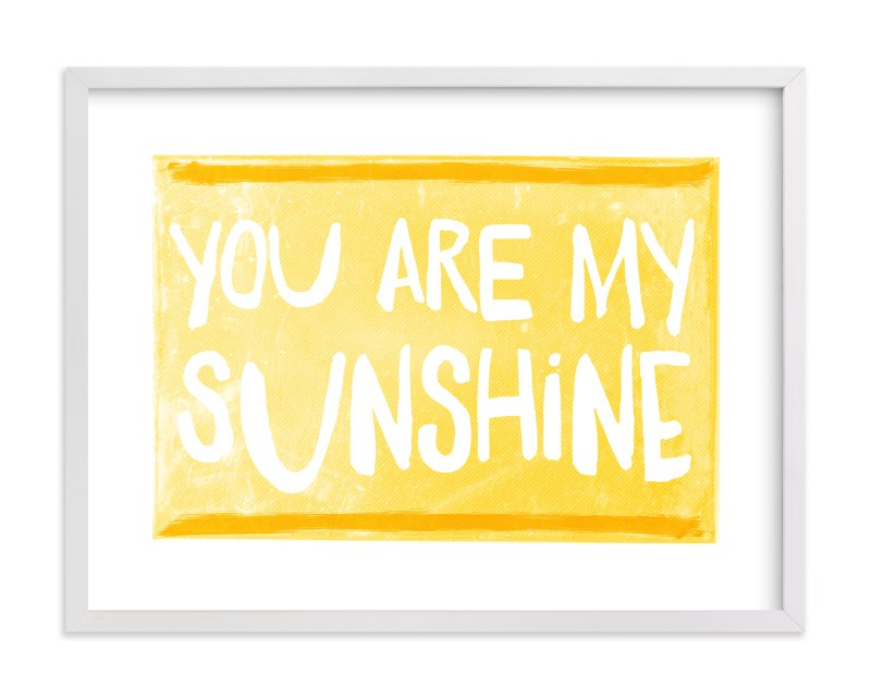 """""""My Sunshine Love"""" - Art Print by Paper Dahlia in beautiful frame options and a variety of sizes."""