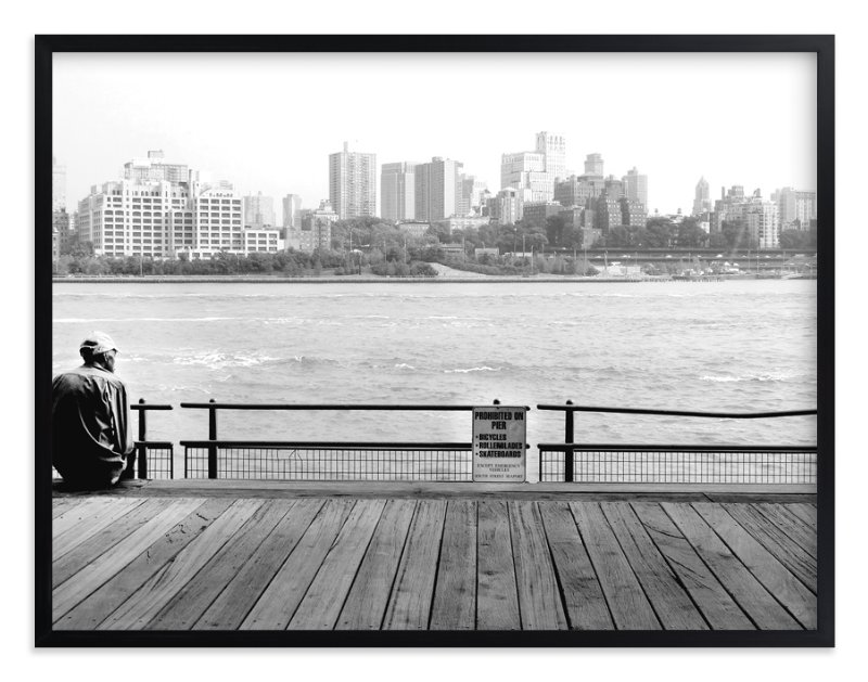 """NYC Viewpoint"" - Art Print by Debra Pruskowski in beautiful frame options and a variety of sizes."