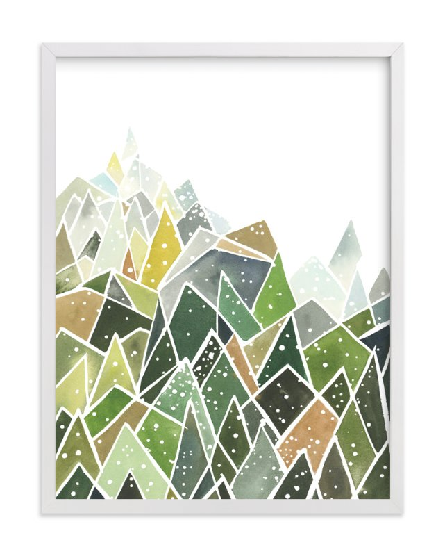 """Landscape of Triangles and Dots"" - Art Print by Yao Cheng in beautiful frame options and a variety of sizes."