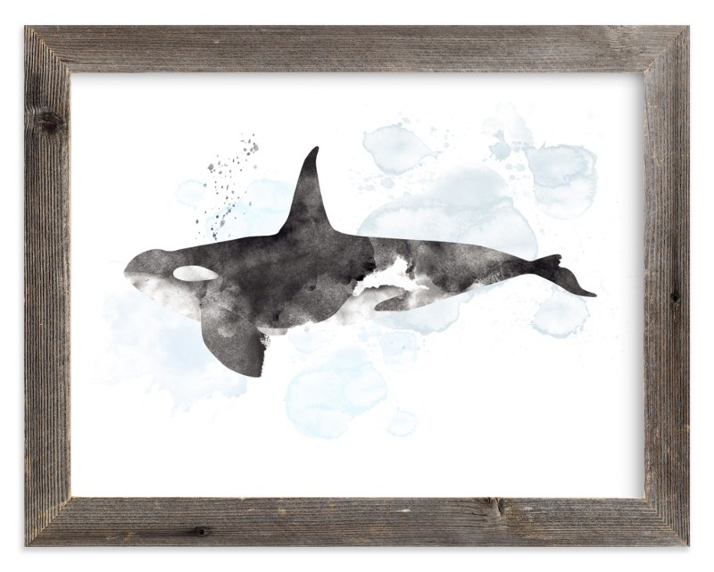 """Whale Series Three"" - Art Print by Shirley Lin Schneider in beautiful frame options and a variety of sizes."