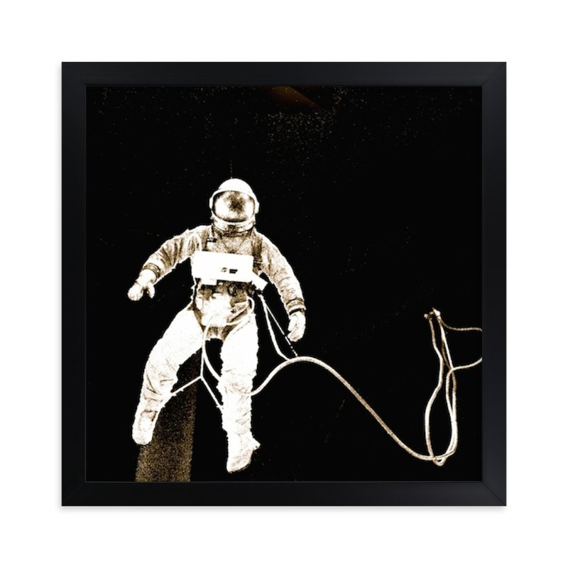 """""""Astro - Be An Explorer"""" - Art Print by S.L. Bird in beautiful frame options and a variety of sizes."""