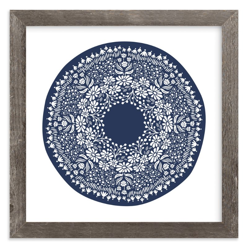 """Flora Medallion"" - Art Print by Laura Hankins in beautiful frame options and a variety of sizes."