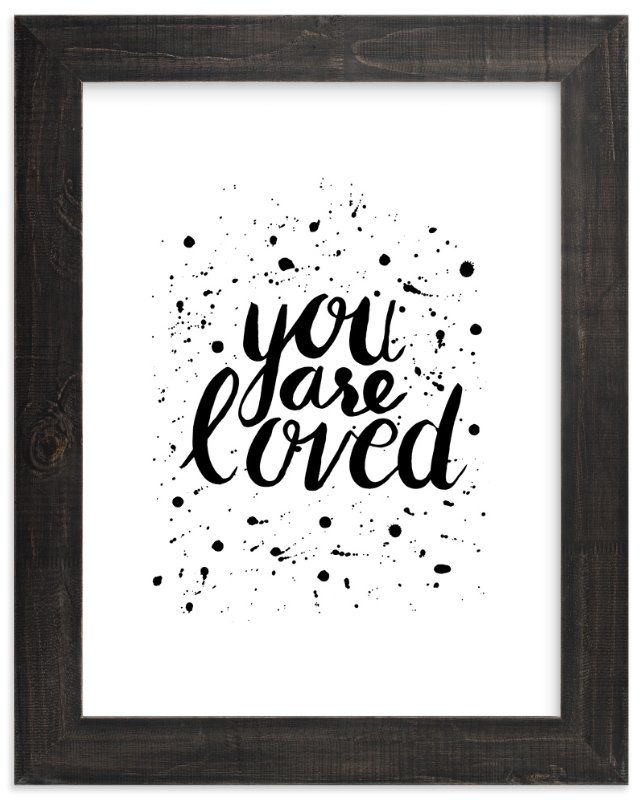 """""""You Are Loved"""" - Art Print by Joanne Williams in beautiful frame options and a variety of sizes."""