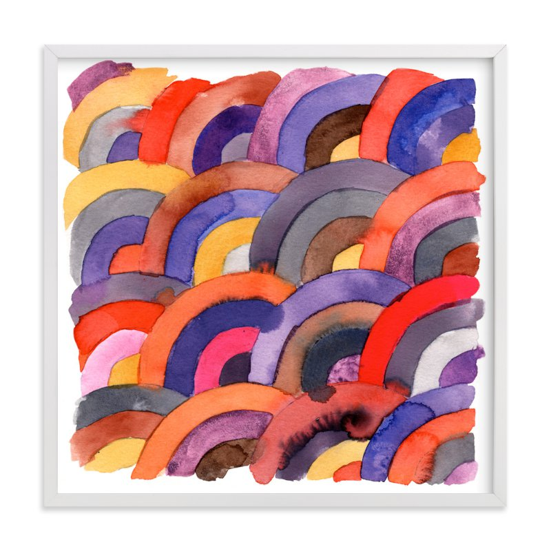 """""""field of rainbows"""" - Art Print by Kelly Witmer in beautiful frame options and a variety of sizes."""