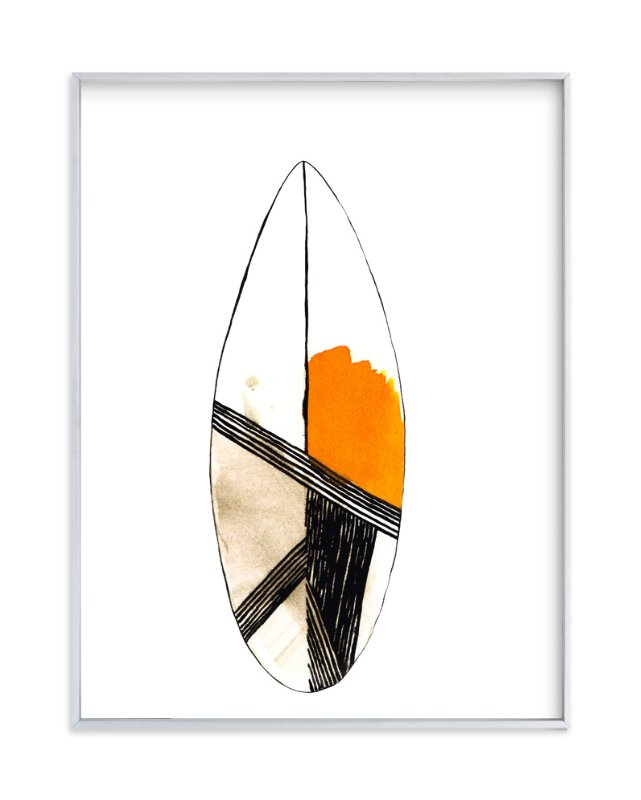 """Surf"" - Art Print by Susanna Nousiainen in beautiful frame options and a variety of sizes."