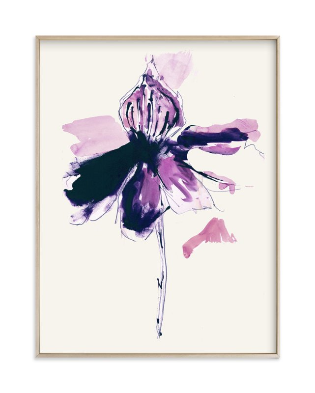 """The Garden's Purple Wonder"" - Art Print by Deborah Velasquez in beautiful frame options and a variety of sizes."