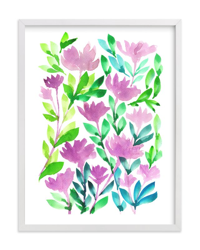 """""""hand painted flowers_1A"""" - Art Print by aticnomar in beautiful frame options and a variety of sizes."""