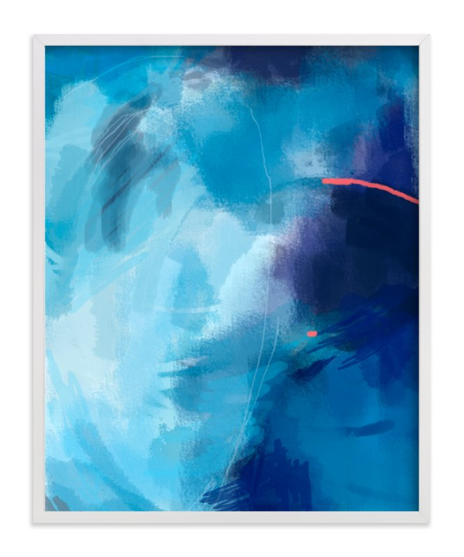 """""""The Kiss of Blue"""" - Art Print by Alison Jerry Designs in beautiful frame options and a variety of sizes."""