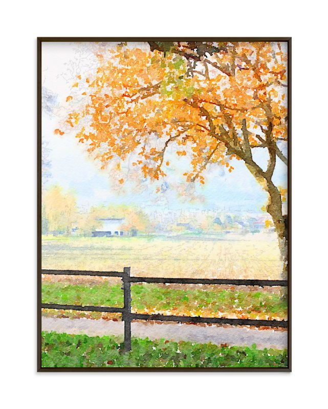 """Autumn Tree"" - Art Print by Teng Wang in beautiful frame options and a variety of sizes."