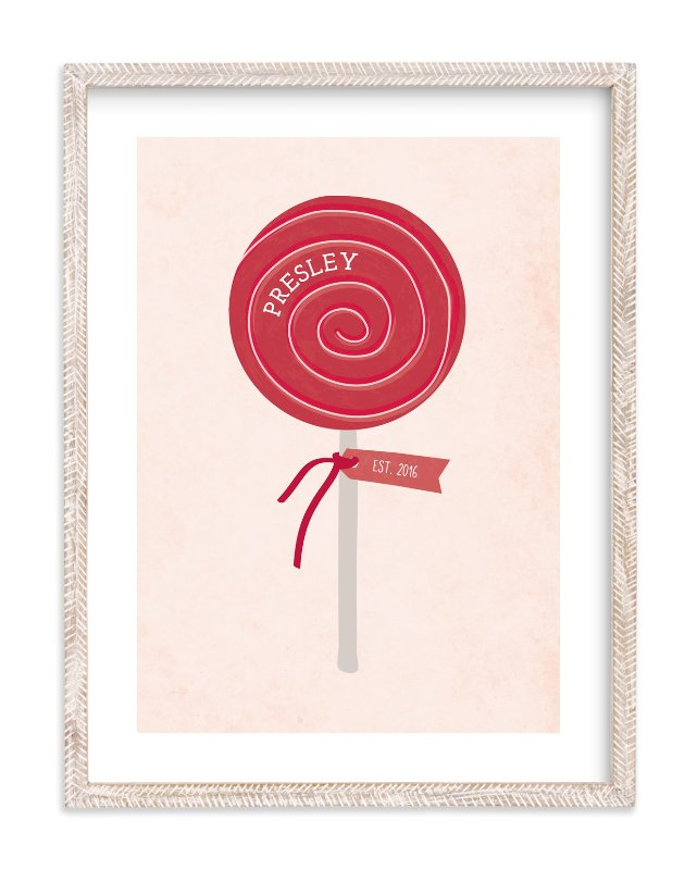 """""""Lala Lollipop"""" - Children's Custom Art Print by Red Impressionz in beautiful frame options and a variety of sizes."""