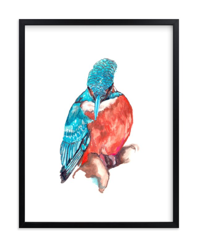 """Bird"" - Art Print by Susanna Nousiainen in beautiful frame options and a variety of sizes."