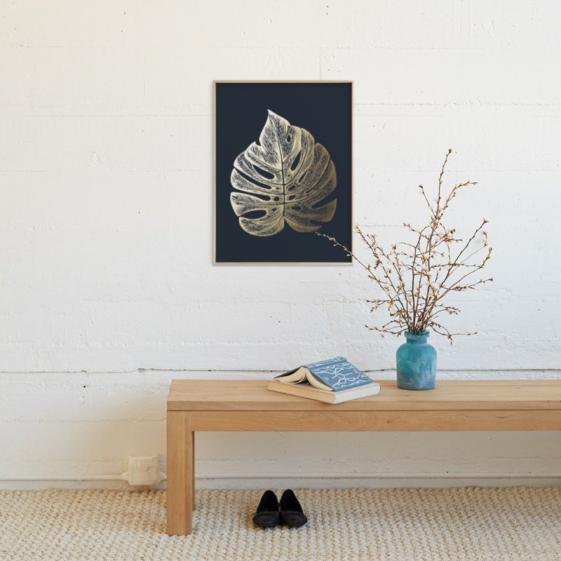 """""""Leaf Study 3"""" - Foil-pressed Art Print by annie clark in beautiful frame options and a variety of sizes."""
