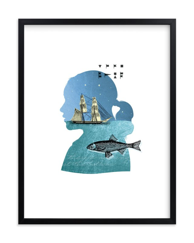 """""""Time to Float"""" - Art Print by Susie Allen in beautiful frame options and a variety of sizes."""