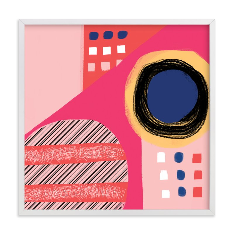 """Fun Patterns on Pink"" - Art Print by Melanie Biehle in beautiful frame options and a variety of sizes."