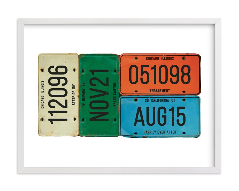 """License Memories"" by LemonBirch Design in beautiful frame options and a variety of sizes."