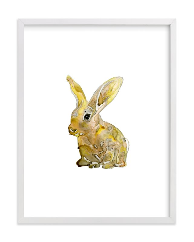 """""""The Country Bunny"""" - Limited Edition Art Print by Michelle Waldie in beautiful frame options and a variety of sizes."""