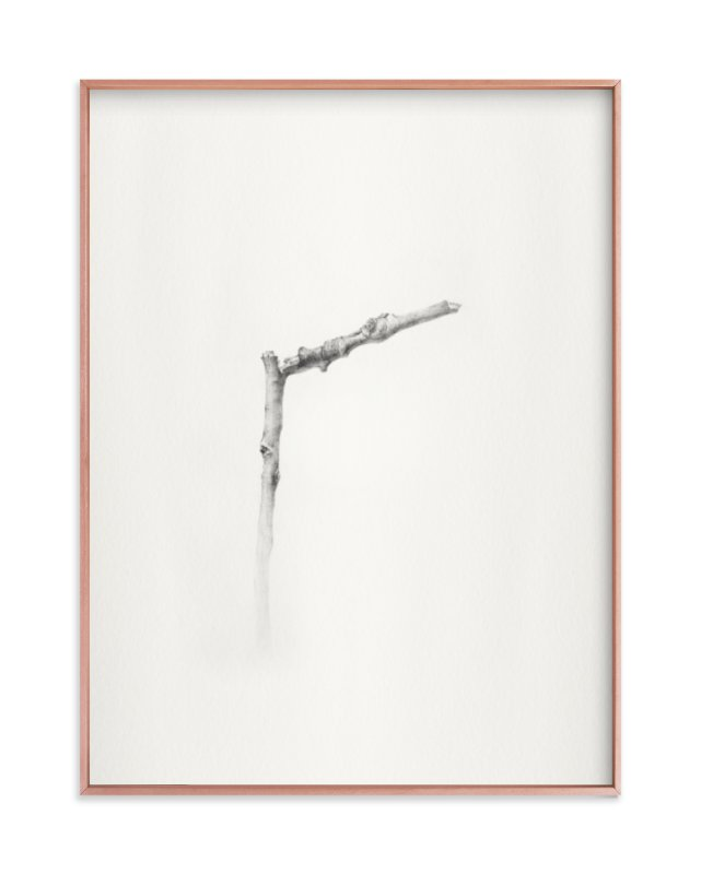 """Twig- Solitude 01"" - Art Print by jinseikou in beautiful frame options and a variety of sizes."