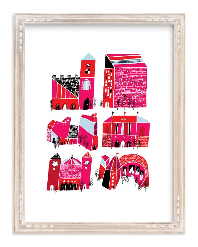 """""""Little Buildings"""" - Limited Edition Art Print by Elliot Stokes in beautiful frame options and a variety of sizes."""