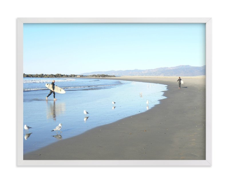 """""""Venice Beach Morning"""" - Art Print by Annie Seaton in beautiful frame options and a variety of sizes."""