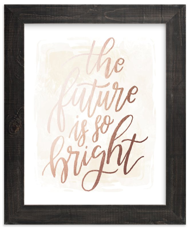 """Bright"" - Foil-pressed Art Print by Grace Kreinbrink in beautiful frame options and a variety of sizes."