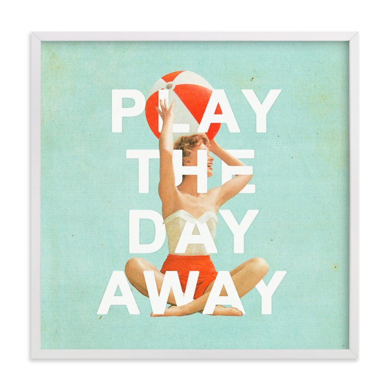 """Play The Day Away"" - Art Print by Heather Landis in beautiful frame options and a variety of sizes."