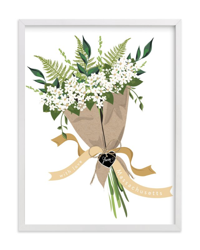"""""""Massachusetts Mayflower Bouquet"""" - Art Print by Susan Moyal in beautiful frame options and a variety of sizes."""