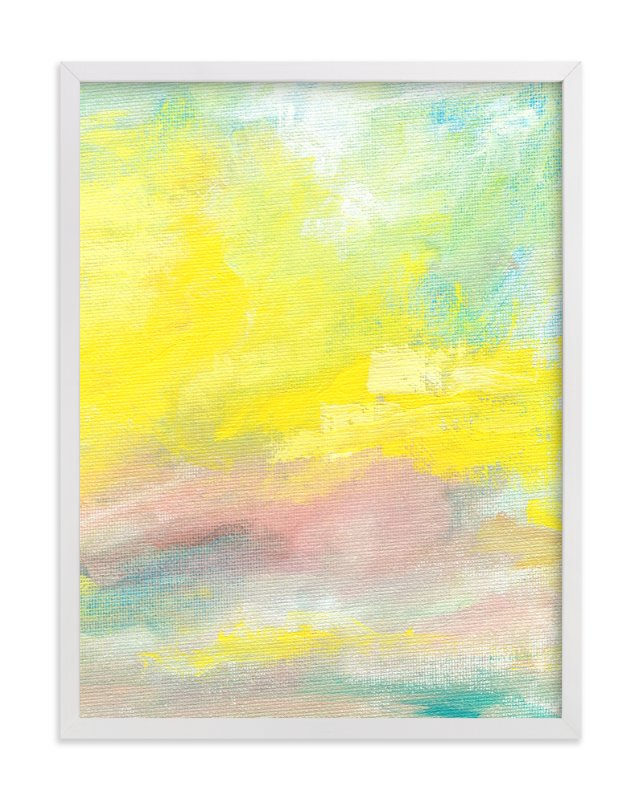 """Summer Sky"" - Art Print by Lindsay Megahed in beautiful frame options and a variety of sizes."