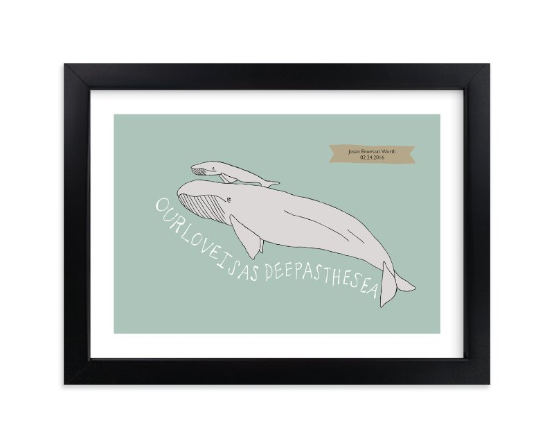 """""""Deep as the Sea"""" - Nursery Custom Art Print by Annada Hypes in beautiful frame options and a variety of sizes."""