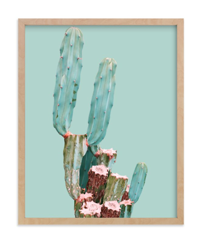 """Cactus Garden"" - Art Print by Baumbirdy in beautiful frame options and a variety of sizes."