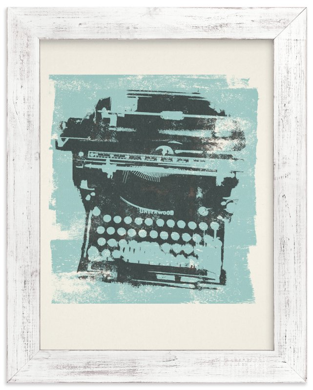 """Funky Type"" - Art Print by Anne Crosse in beautiful frame options and a variety of sizes."