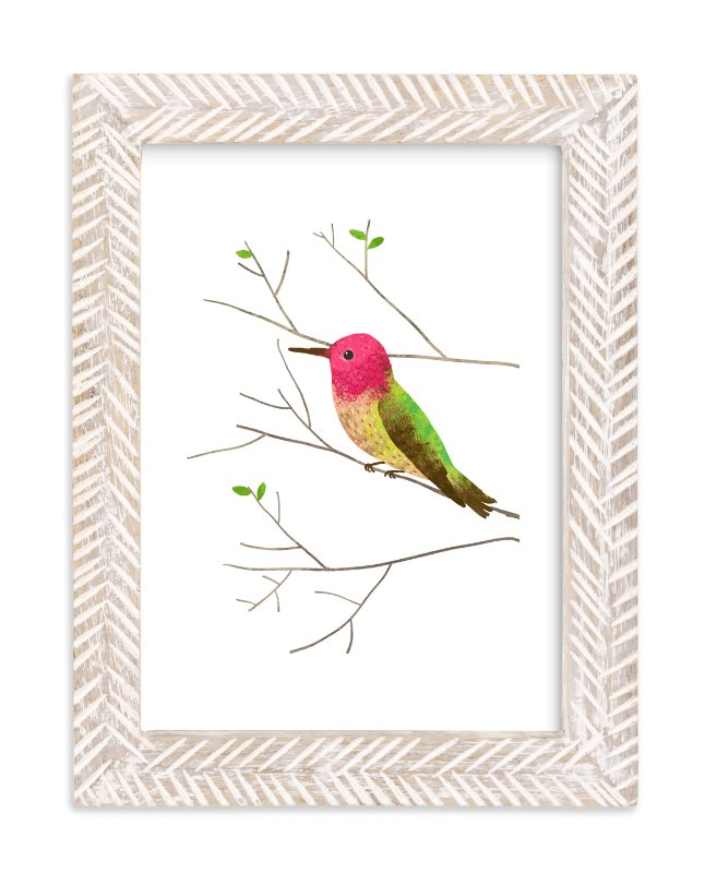 """""""Anna's Hummingbird"""" - Art Print by Evelline Andrya in beautiful frame options and a variety of sizes."""