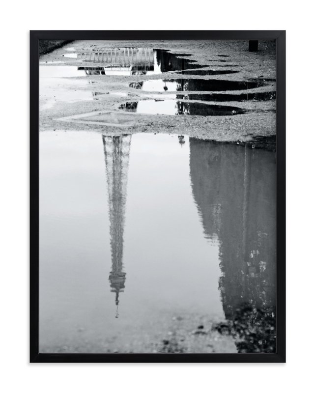 """Eiffel Tower in the Rain"" - Art Print by Julie Wan in beautiful frame options and a variety of sizes."