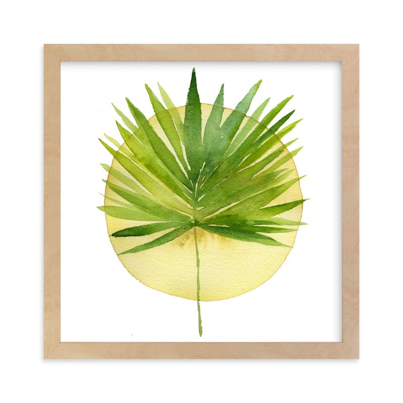 """""""spotlight - fan palm"""" - Art Print by Kiana Mosley in beautiful frame options and a variety of sizes."""