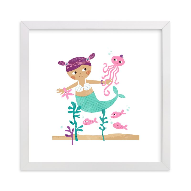 """Princess of The Sea"" - Art Print by LeezaWorks in beautiful frame options and a variety of sizes."