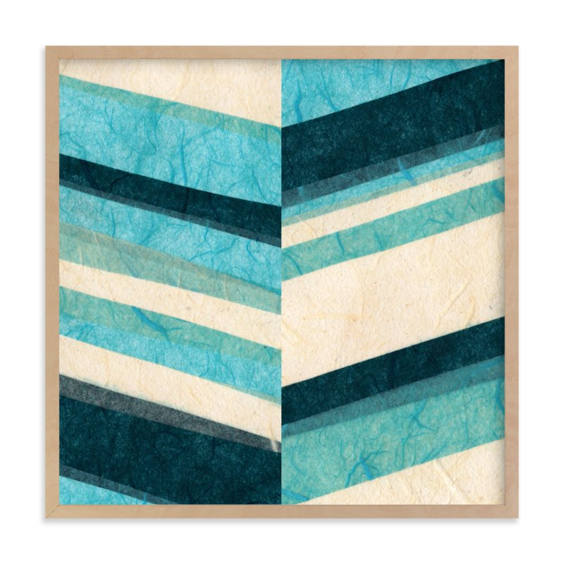 """""""Paper Chevron"""" - Art Print by Kelly Nasuta in beautiful frame options and a variety of sizes."""