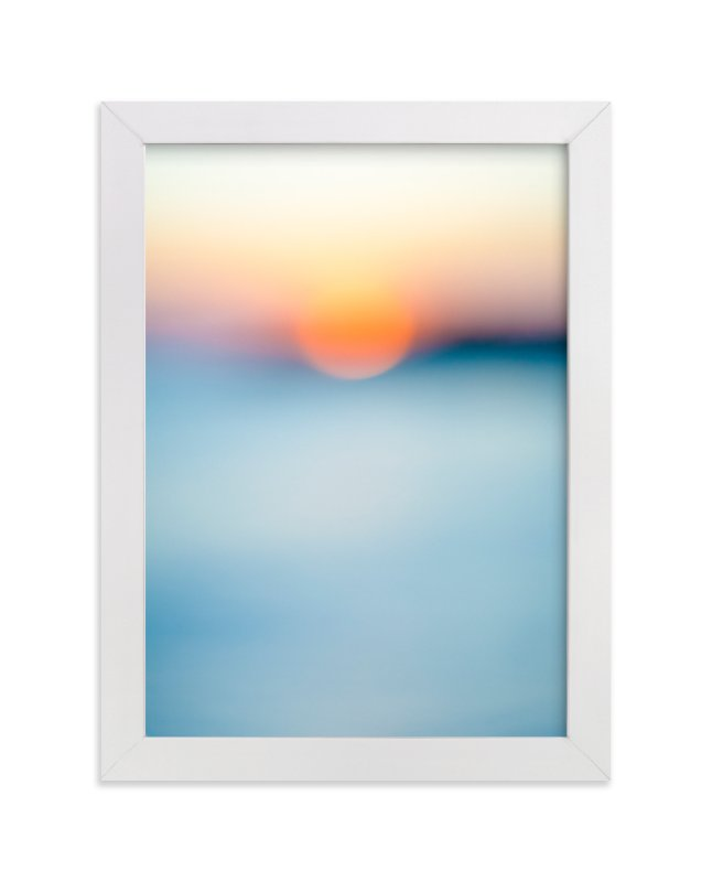 """Sunset Study"" - Art Print by Jessica Cardelucci Nugent in beautiful frame options and a variety of sizes."