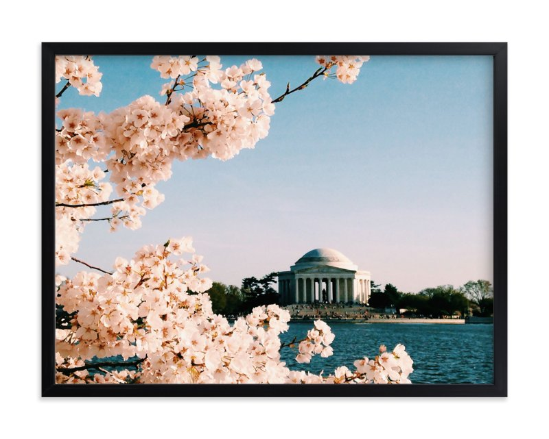"""Tidal Basin by Day"" - Art Print by AMK in beautiful frame options and a variety of sizes."