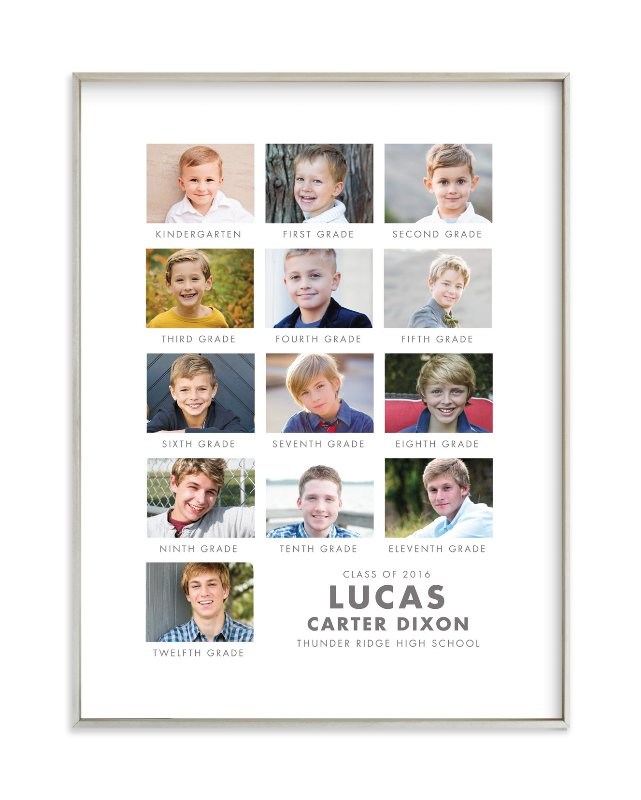 """School Pictures"" - Custom Photo Art Print by Paper and Parcel in beautiful frame options and a variety of sizes."