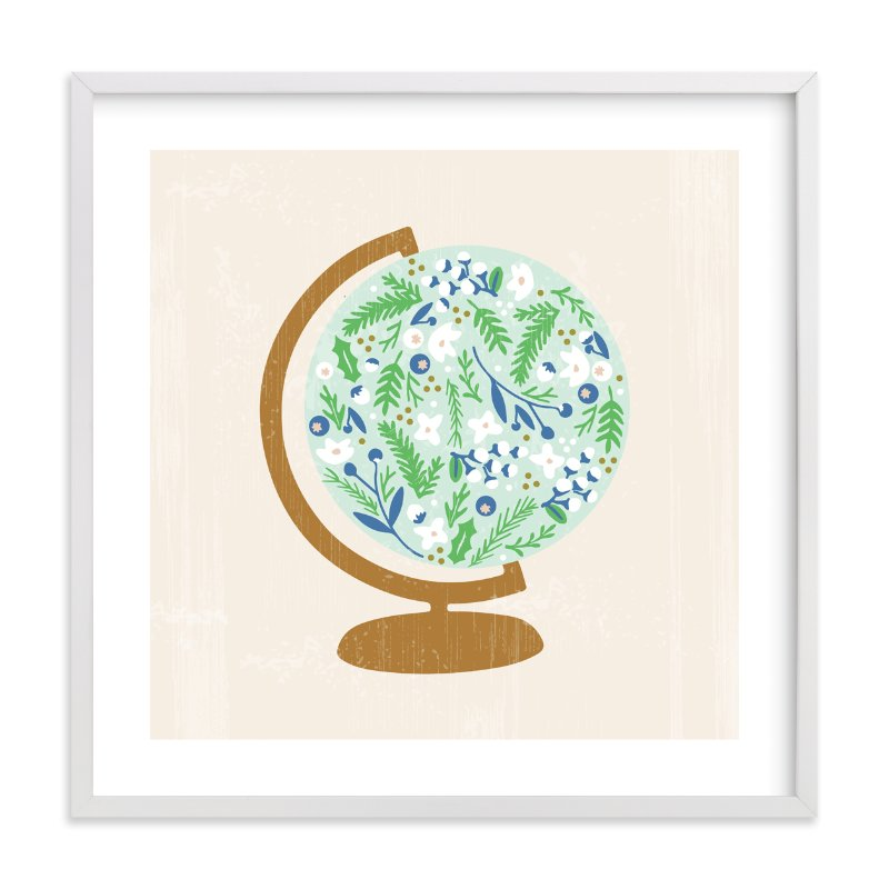 """Global Flor"" - Limited Edition Art Print by Marabou Design in beautiful frame options and a variety of sizes."