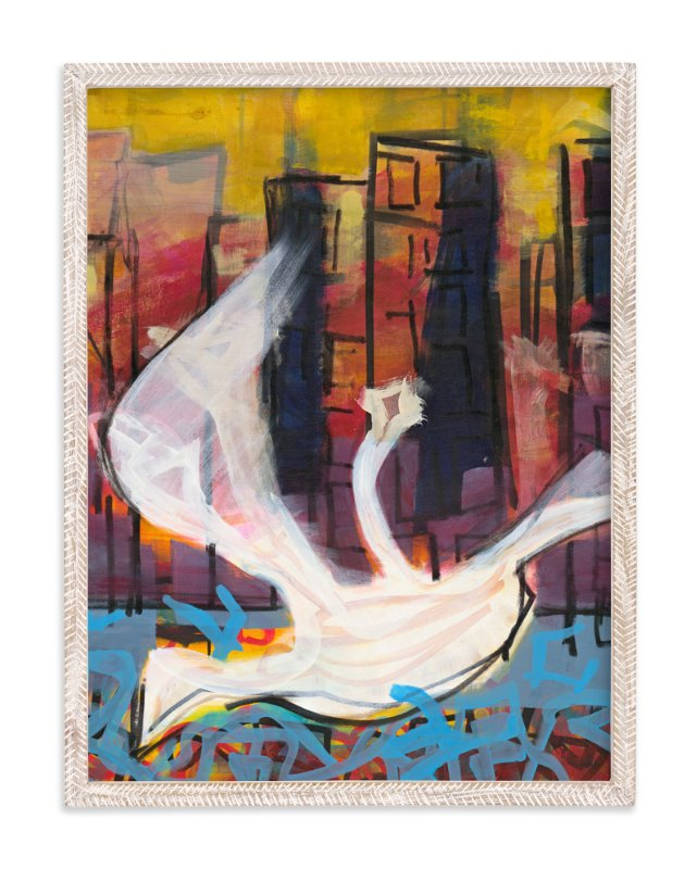 """""""City Dove Series 3"""" - Art Print by Angela Simeone in beautiful frame options and a variety of sizes."""