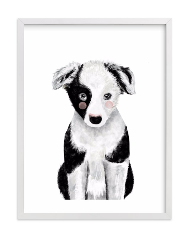"""Baby Animal Dog"" by Cass Loh in beautiful frame options and a variety of sizes."