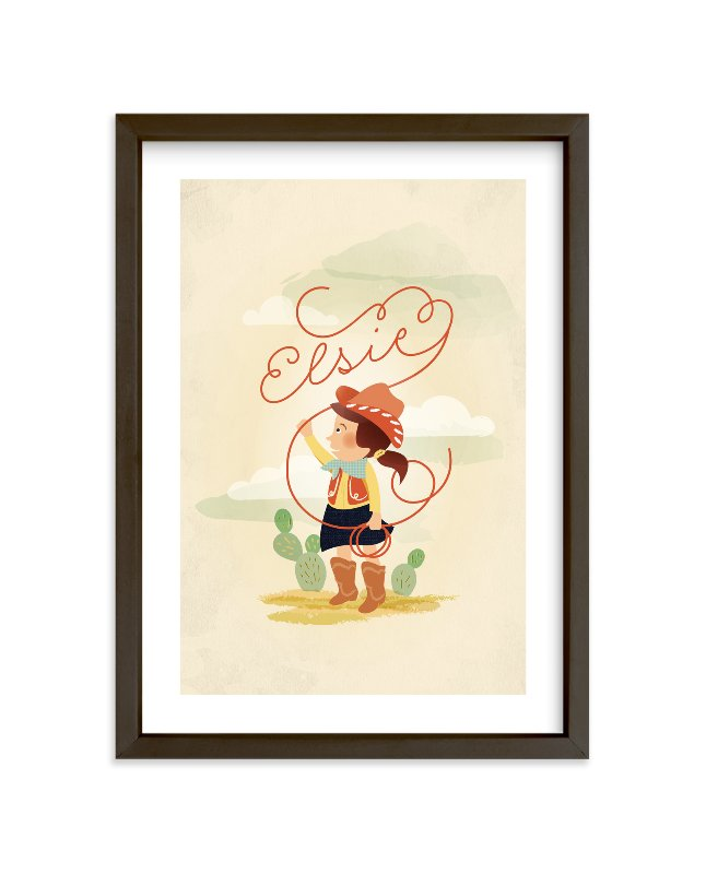 """Don't Fence Me In"" - Children's Custom Art Print by Olivia Kanaley in beautiful frame options and a variety of sizes."