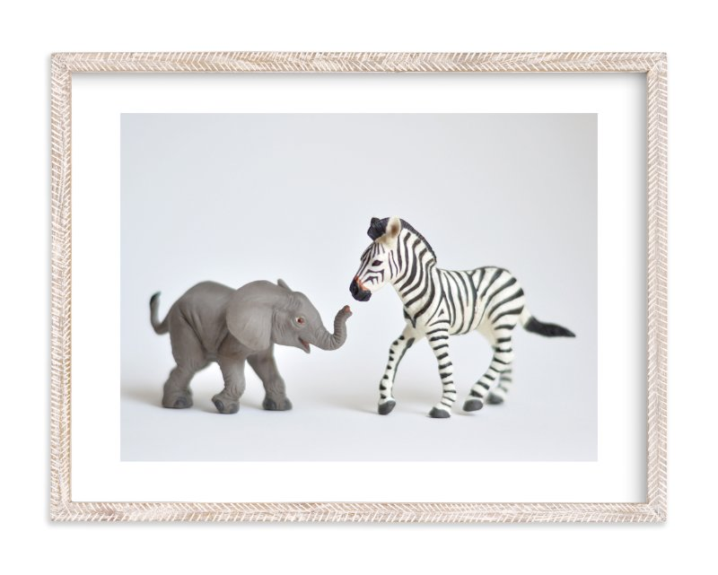"""These Friends"" - Limited Edition Art Print by Kinga Subject in beautiful frame options and a variety of sizes."