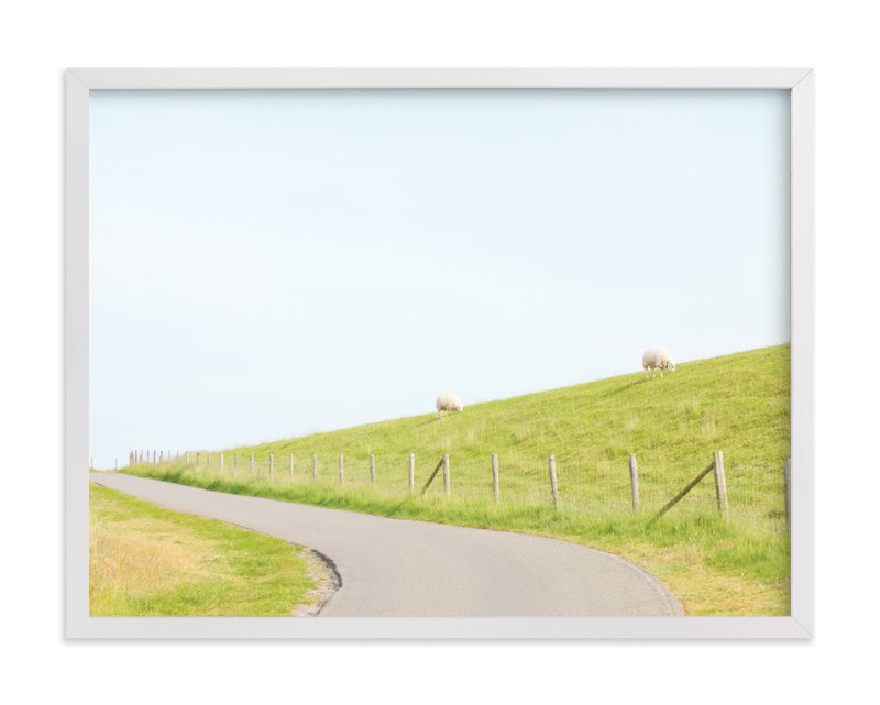 """""""A Woolly Path"""" - Art Print by Alexandra Feo in beautiful frame options and a variety of sizes."""