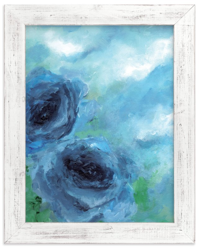 """""""Cloud Roses"""" - Art Print by Sonal Nathwani in beautiful frame options and a variety of sizes."""