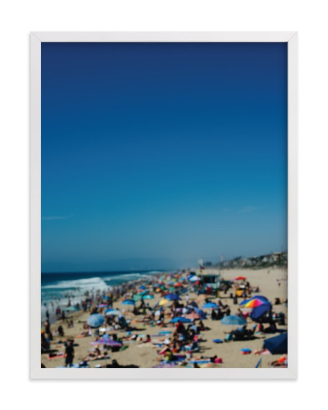 """""""Beach I"""" - Art Print by Jennifer Little in beautiful frame options and a variety of sizes."""