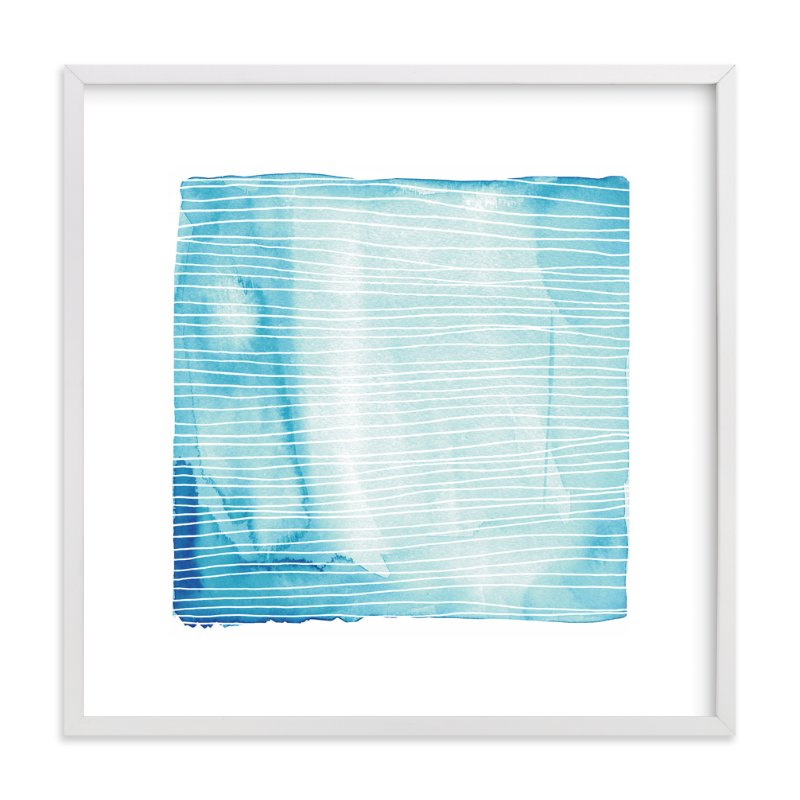 """""""Currents"""" - Art Print by Paper Dahlia in beautiful frame options and a variety of sizes."""