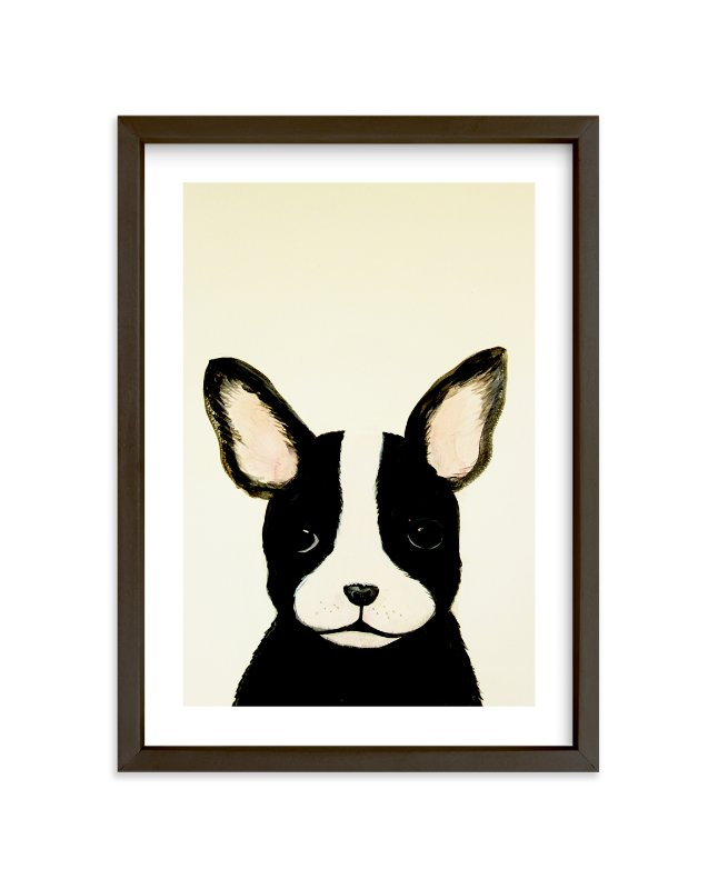 """""""French bulldog puppy"""" - Limited Edition Art Print by Chloe Chung in beautiful frame options and a variety of sizes."""