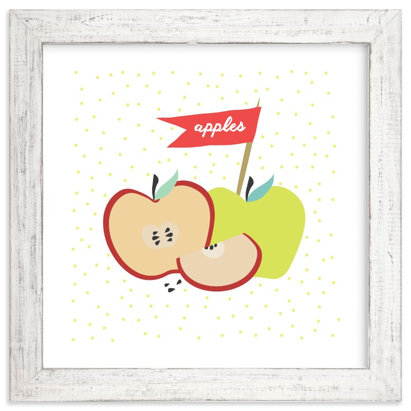 """Farmer's Market Apples"" - Art Print by Kate Capone aka Oh So Suite in beautiful frame options and a variety of sizes."